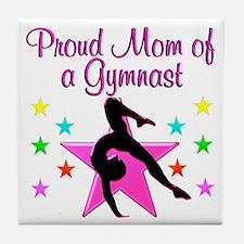 SUPER GYMNAST MOM Tile Coaster