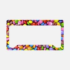 Colorful Candy Pieces License Plate Holder