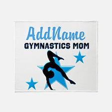 STAR GYMNAST MOM Throw Blanket
