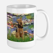 Airedale in Monet's Lilies Mug