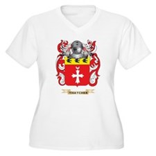 Thatcher Family Crest (Coat of Arms) Plus Size T-S