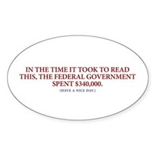 Government Spent $340,000 Oval Decal