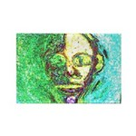 Yellow Face Rectangle Magnet (100 pack)