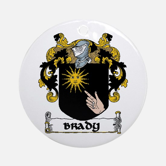 Brady Coat of Arms Ornament (Round)