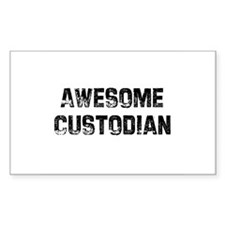 Awesome Custodian Rectangle Decal