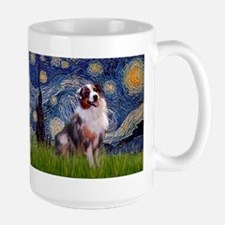 Starry Night & Aussie #1 Large Mug
