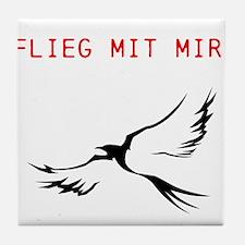 Flieg mit mir -individual text Tile Coaster