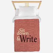 Sit Down and Write Twin Duvet