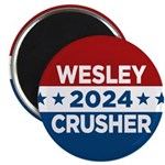 Trek Wesley Crusher 2016 Magnets - This funny election design is for fans of Star Trek The Next Generation's infamous acting ensign. Vote Wesley Crusher in 2016!