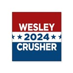 Trek Wesley Crusher 2016 Sticker - This funny election design is for fans of Star Trek The Next Generation's infamous acting ensign. Vote Wesley Crusher in 2016! - Availble Sizes:Small - 3x3,Large - 5x5 (+$1.50) - Availble Colors: White,Clear