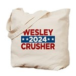 Trek Wesley Crusher 2016 Tote Bag - This funny election design is for fans of Star Trek The Next Generation's infamous acting ensign. Vote Wesley Crusher in 2016!