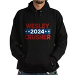 Trek Wesley Crusher 2016 Hoodie - This funny election design is for fans of Star Trek The Next Generation's infamous acting ensign. Vote Wesley Crusher in 2016! - Availble Sizes:Small,Medium,Large,X-Large,2X-Large (+$3.00),3X-Large (+$3.00) - Availble Colors: Black,Navy