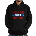 Star Trek Picard Riker 2016 Hoodie - This funny election design is for fans of Star Trek The Next Generation. Vote Picard/Riker in 2016! - Availble Sizes:Small,Medium,Large,X-Large,2X-Large (+$3.00),3X-Large (+$3.00) - Availble Colors: Black,Navy