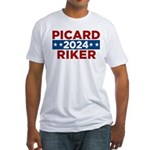 Star Trek Picard Riker 2016 T-Shirt - This funny election design is for fans of Star Trek The Next Generation. Vote Picard/Riker in 2016! - Availble Sizes:Small,Medium,Large,X-Large,2X-Large (+$3.00) - Availble Colors: White,Natural,Pink,Baby Blue,Sunshine
