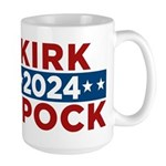 Star Trek Kirk Spock 2016 Mugs - This funny election design is for fans of Star Trek. Vote Kirk/Spock in 2016!