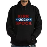 Star Trek Kirk Spock 2016 Hoodie - This funny election design is for fans of Star Trek. Vote Kirk/Spock in 2016! - Availble Sizes:Small,Medium,Large,X-Large,2X-Large (+$3.00),3X-Large (+$3.00) - Availble Colors: Black,Navy