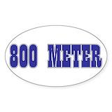 800 meter Stickers