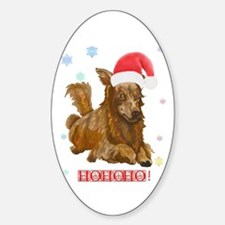 Santa Doxie! Oval Decal