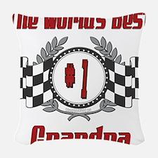 Racing1GRANDPA.png Woven Throw Pillow