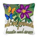 Butterflygrandmother.png Woven Throw Pillow