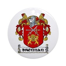 Brennan Coat of Arms Ornament (Round)