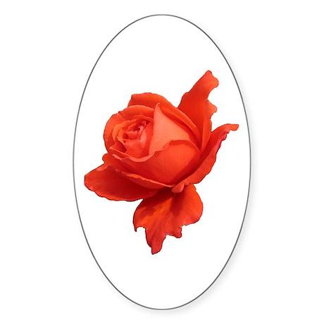 """""""Rose 1"""" Oval Sticker"""