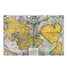World Map 1531 Postcards (Package of 8)