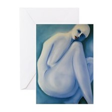 Cool Blue Nude Greeting Cards (Pk of 10)