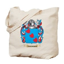 Thorsen Family Crest (Coat of Arms) Tote Bag