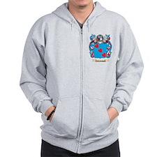 Thorsen Family Crest (Coat of Arms) Zip Hoodie