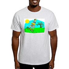 Big 5 Wheelie! Ash Grey T-Shirt