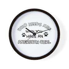 american curl designs Wall Clock