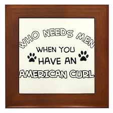 american curl designs Framed Tile