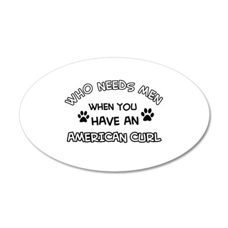 american curl designs 20x12 Oval Wall Decal