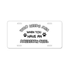 american curl designs Aluminum License Plate