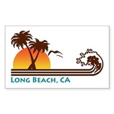 Long Beach California Rectangle Decal