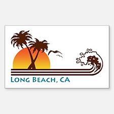 Long Beach California Rectangle Decal