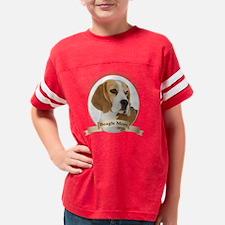 Beagle Mom Youth Football Shirt