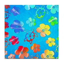 Hawaiian Tie Dyed Honu Tile Coaster