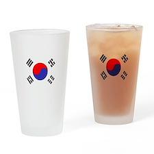Flag South Korea Drinking Glass