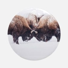 Buffaloes Ornament (Round)
