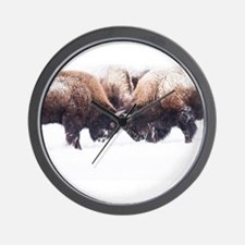 Buffaloes Wall Clock