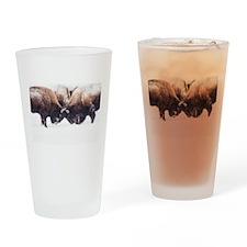 Buffaloes Drinking Glass