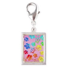 Pink Tie Dyed Honu Charms