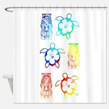 Tropical Honu And Tiki Shower Curtain