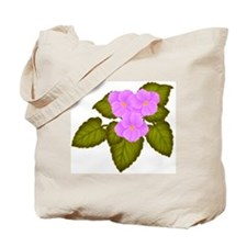 Purple African Violets Tote Bag