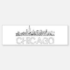 Chicago outline-4 Bumper Bumper Bumper Sticker