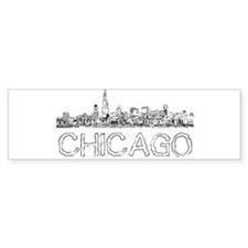 Chicago outline-4 Bumper Bumper Sticker