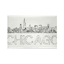 Chicago outline-4 Magnets