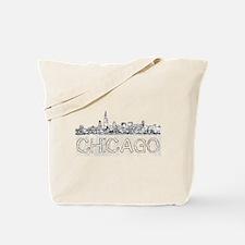 Chicago outline-4 Tote Bag